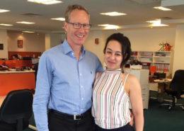 Podiatrist Alaa Razak visits Firefly