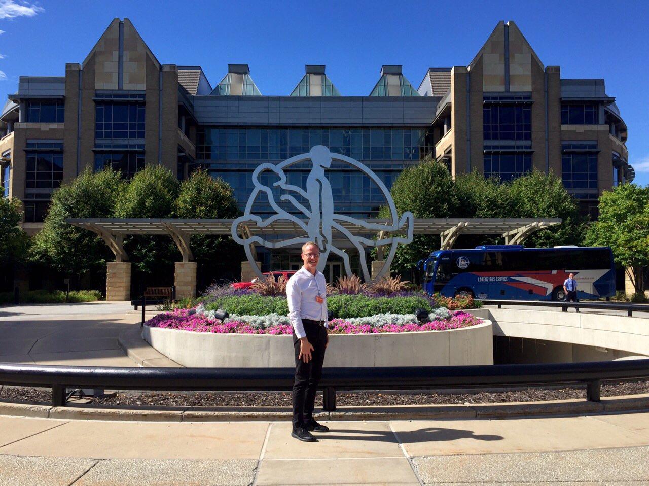 Martin McGeough outside Medtronic's HQ