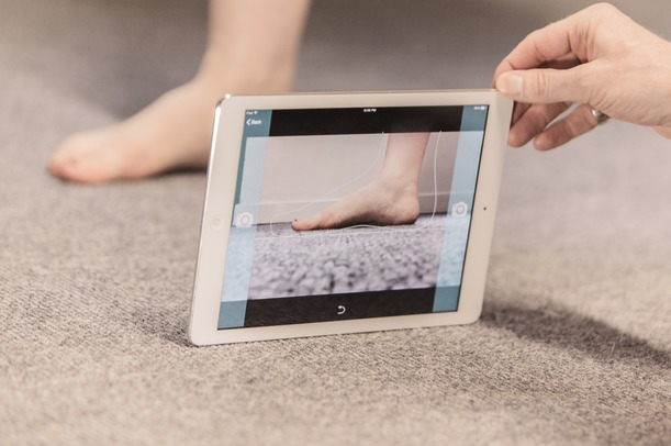 SOLS ankle capture with iPad at Firefly
